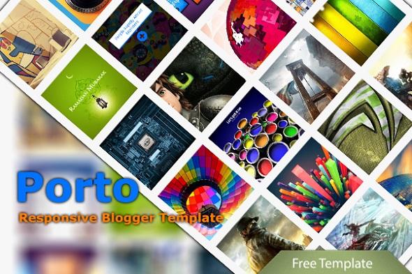 Porto Responsive Blogger Template Preview