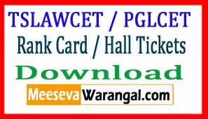 TSLAWCET 2017/ TSPGLCET-2017 Rank Card / Hall Tickets Download