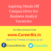 Aspiring Minds Off Campus Drive for Business Analyst Vacancies