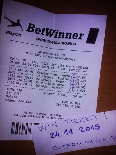 WIN TICKET FROM YESTERDAY TUESDAY 24.11.2015