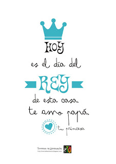 Cartel para el día del padre: Hoy es el día del Rey de esta casa