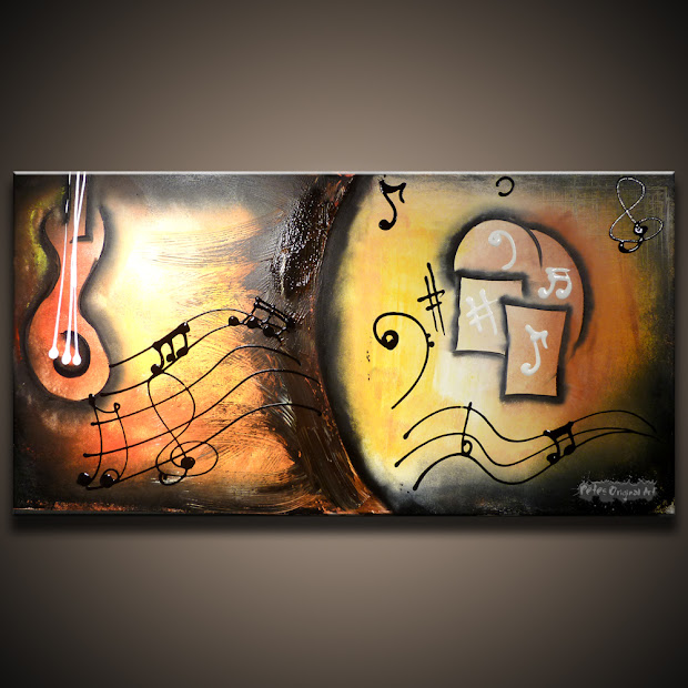 Modern Abstract Art Paintings Music