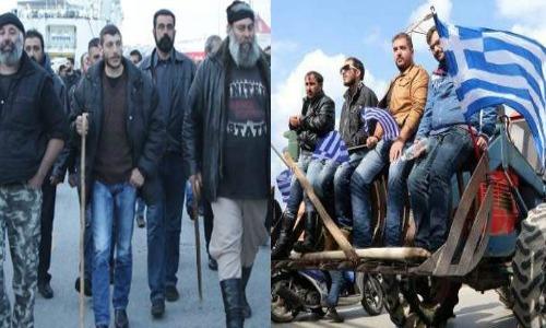 [Photos] Κατά χιλιάδες οι αγρότες συνεχίζουν να έρχονται από όλη την Ελλάδα στην Άθήνα