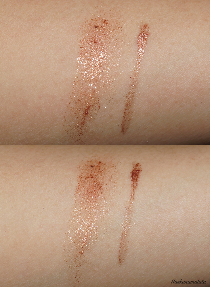 Swatches of MAC Copperthron Fluidline Eye Liner Gel
