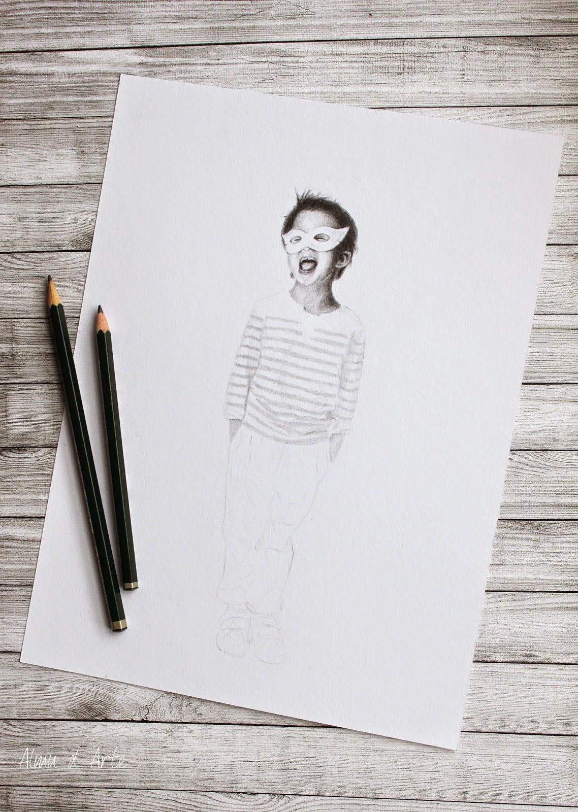 Proceso de creación de un dibujo