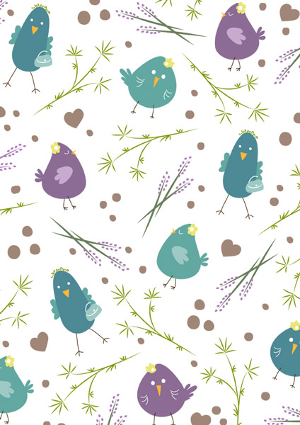 Birdies pattern, Muster
