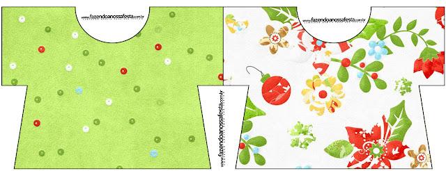 Flores de Navidad: Invitaciones para Imprimir Gratis