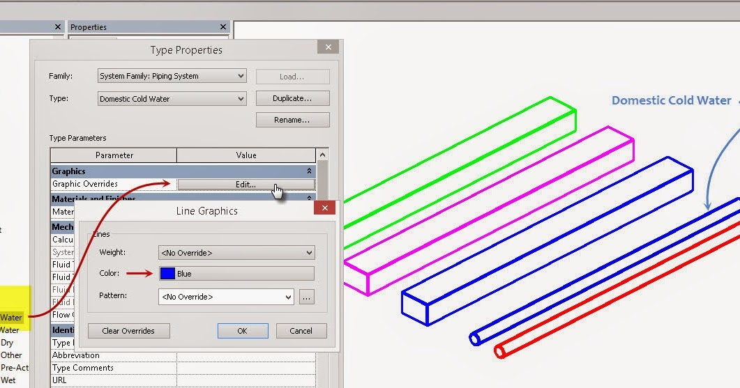 Revit OpEd: Linked File Revit MEP has Colors