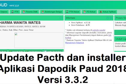 Download Patch Dapodik Paud 3.2.2 Tahun ajaran 2018/2019