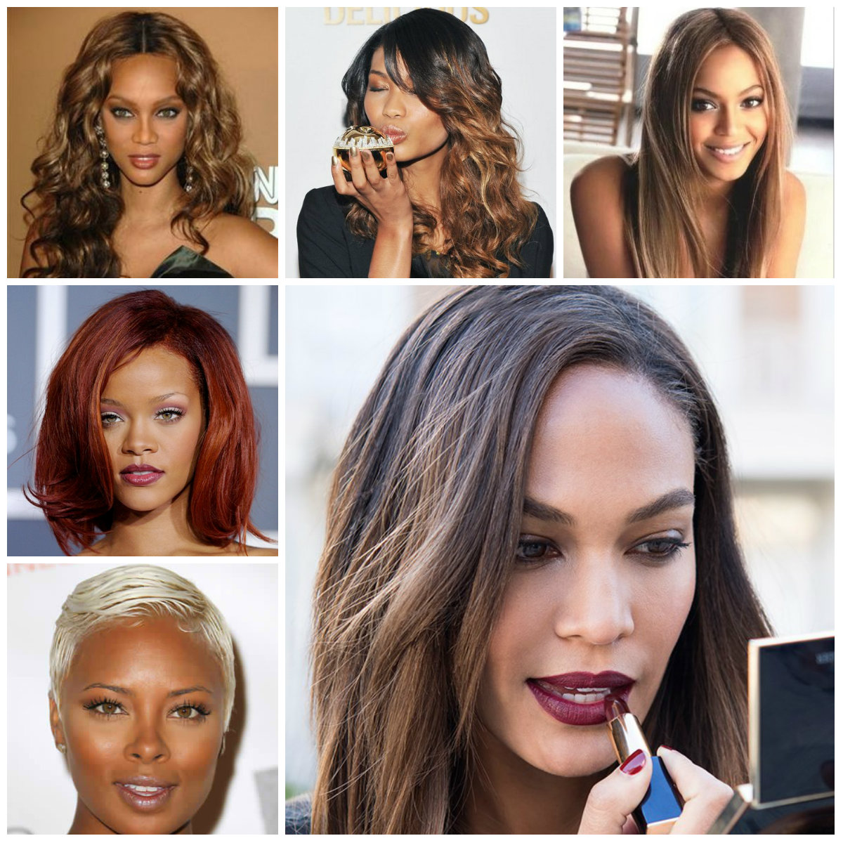Celebrity Fashion Wigs Trendy Hair Colors For Black Women