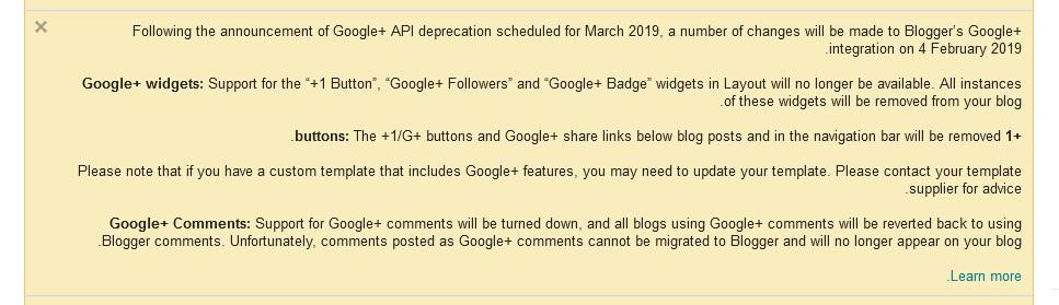 صدمة لمستخدمي منصة بلوجر
