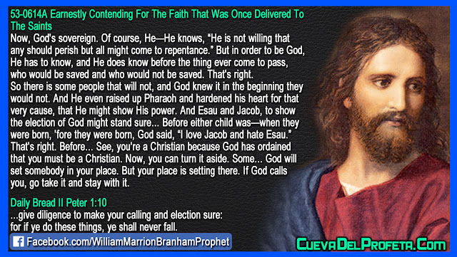 God has ordained that you must be a Christian - William Branham Quotes
