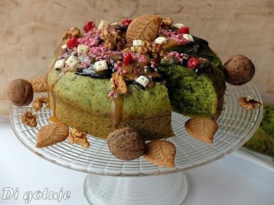 Ciasto z rukoli (z orzechami włoskimi)