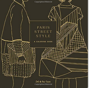 paris street style coloring book cover