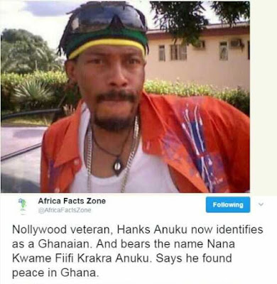I Have Found Peace in Ghana - Actor Hanks Anuku Reportedly Dumps Nigeria