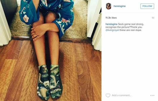 Gina Rodriguez Shares Living Royal Socks Image