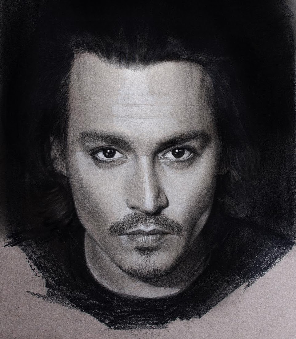 11-Johnny-Depp-Justin-Maas-Pastel-Charcoal-and-Graphite-Celebrity-Portraits-www-designstack-co
