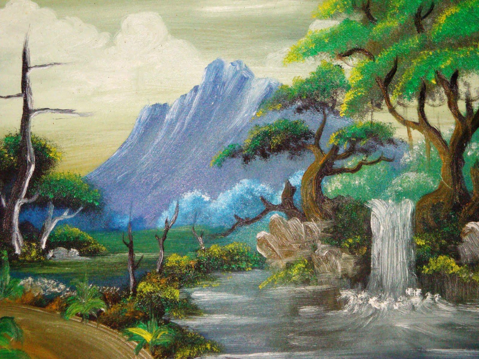 Gambar Lukisan Manusia Dengan Alam Sekitarnya - Koleksi ...