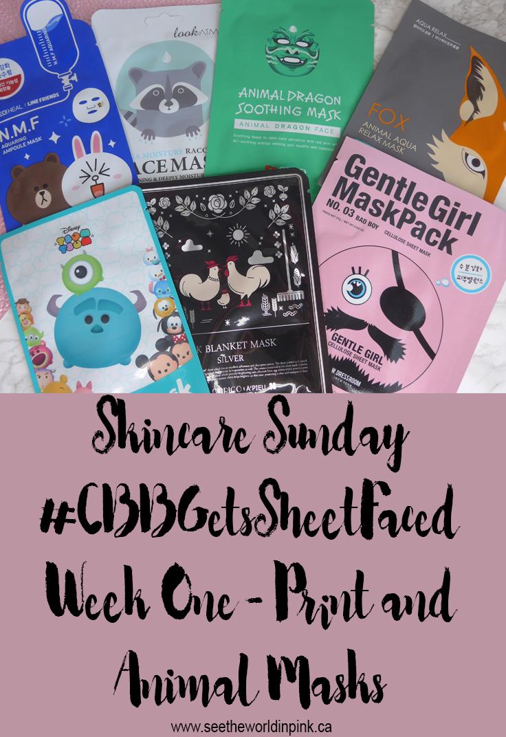 Skincare Sunday #CBBGetsSheetFaced