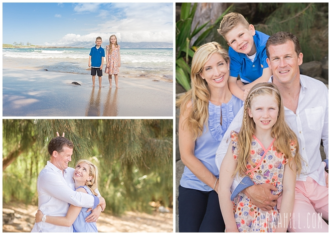 Kapalua maui family portrait photographers