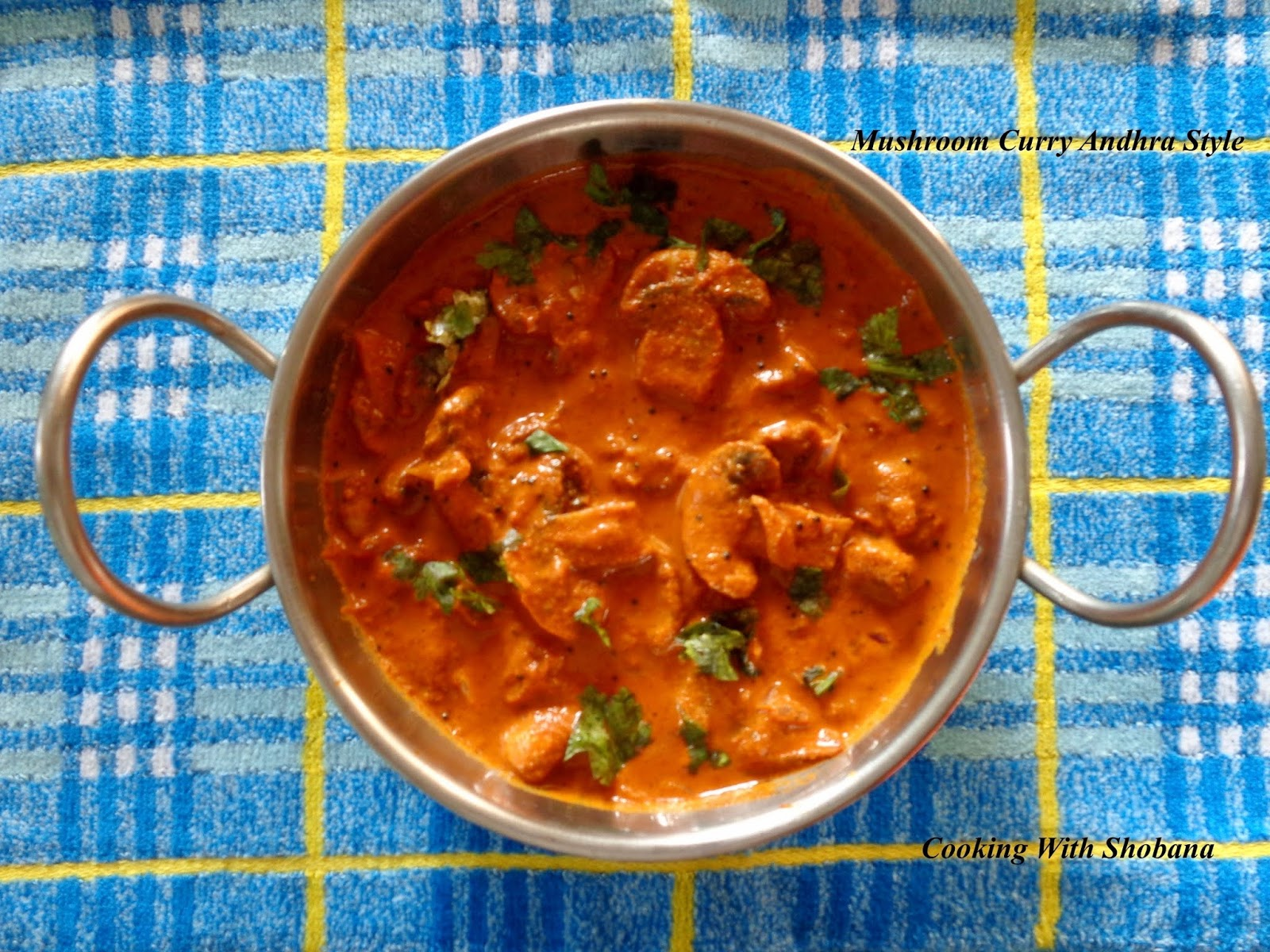 Cooking With Shobana : MUSHROOM CURRY ANDHRA STYLE