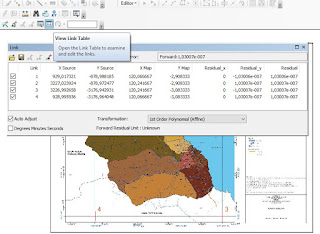 cara melihat link view of table pada georeferencing