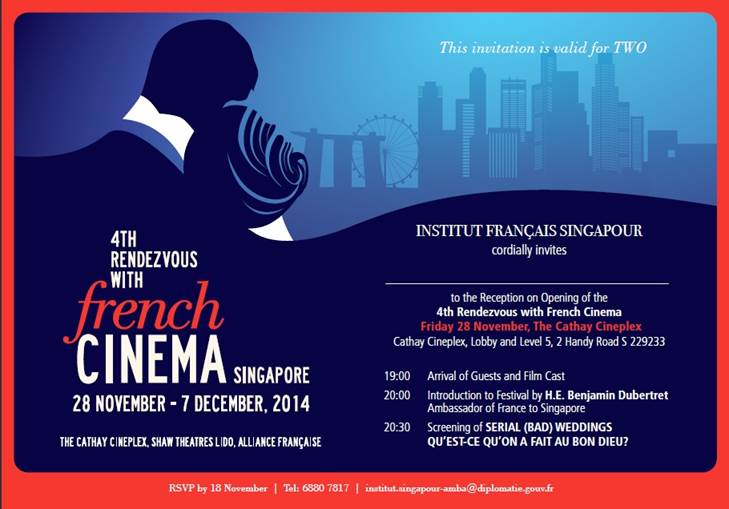 Singapore Rendez Vous With French Cinema French Film Festival 2014 In Singapore Living In Sin