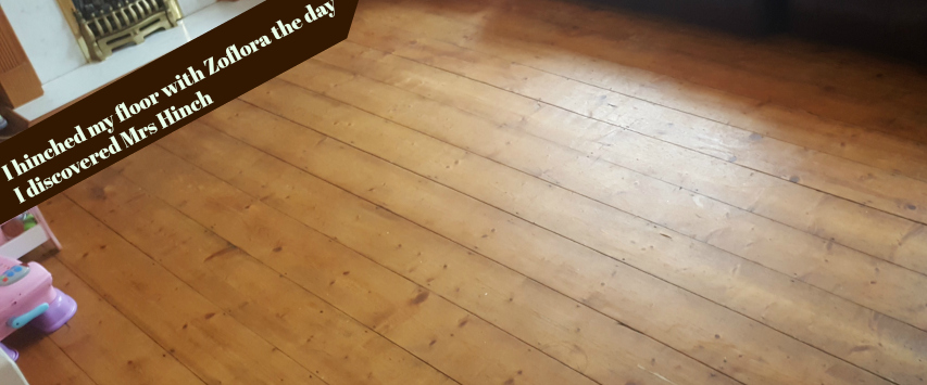Clean and clear disinfected wooden floor