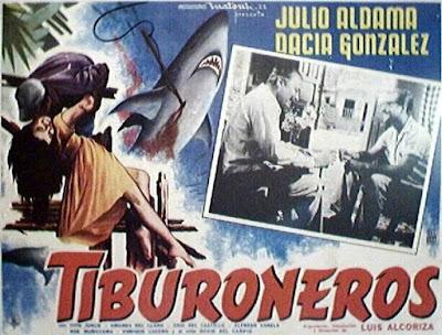 Cartel de cine de: Tiburoneros (1962) - DESCARGACINECLASICO