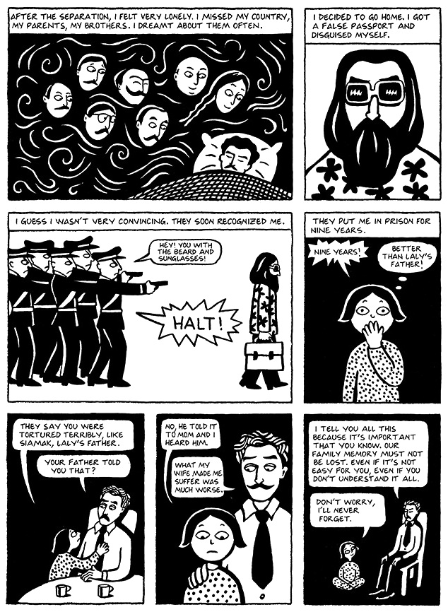 Read Chapter 8 - Moscow, page 58, from Marjane Satrapi's Persepolis 1 - The Story of a Childhood
