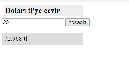 javascript uygulama