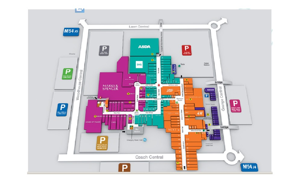 Telford Shopping Centre Map town centre Telford central: February 2013 Telford Shopping Centre Map