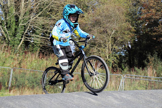 Ewan Ewart from belfast city bmx club at 2018 Lisburn Summer Series.. Round 3 2018