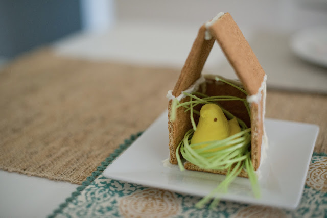 How to make a Peep in a graham cracker house