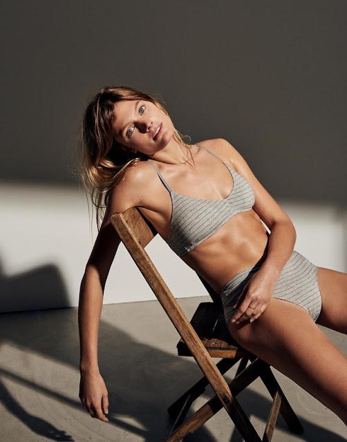 Madewell Cotton-Modal Mila Padded Bralette in Stripe and Cotton-Modal High-Waist Bikini Stripe