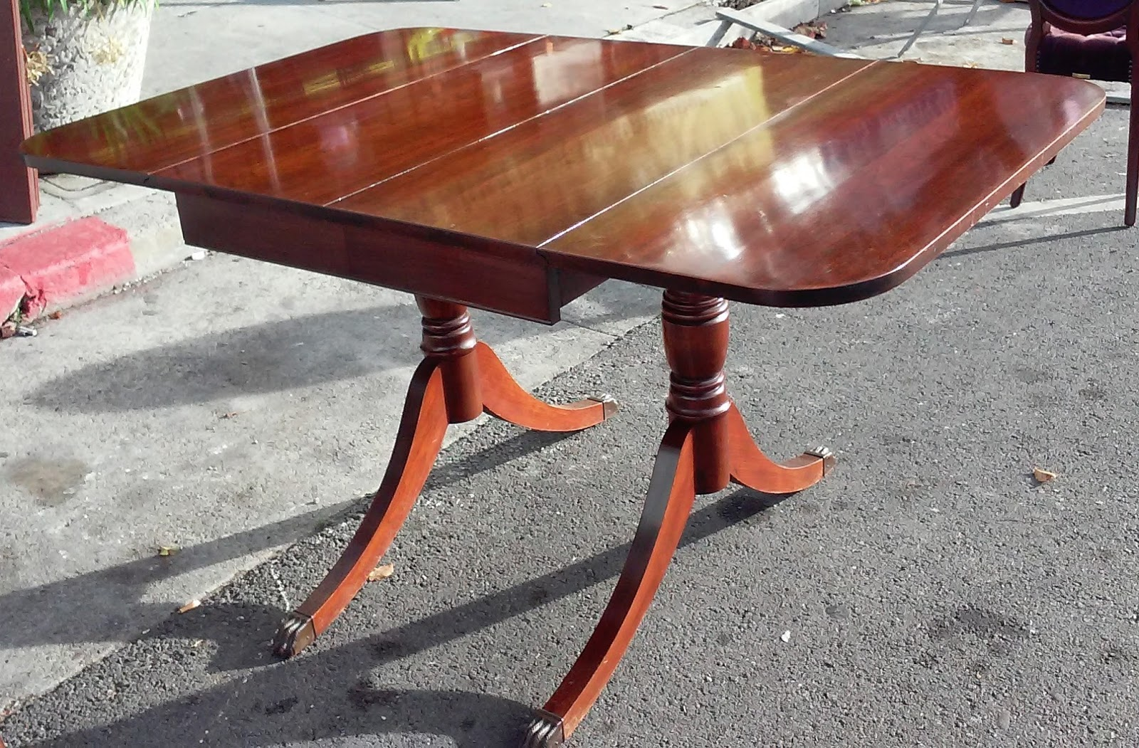 duncan phyfe chairs wheelchair racing uhuru furniture & collectibles: sold drop-leaf table - $80