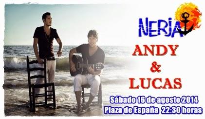 Concierto de Andy y Lucas en Nerja