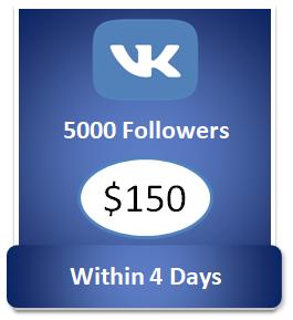 5000 buy Vkontakte Followers