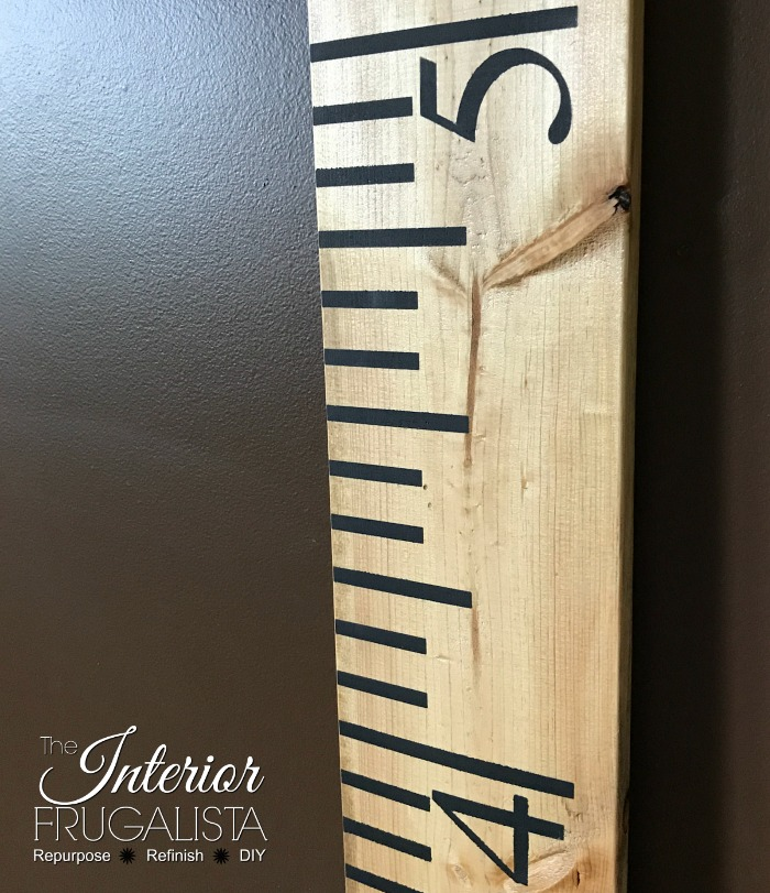 Easy DIY Yardstick Growth Chart Units Of Measure