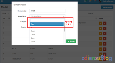 Fungsi Search di select2 Tidak Bekerja di Bootstrap Theme Modal