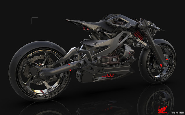 HONDA Neo Fighter on Behance by Arik Schwarz