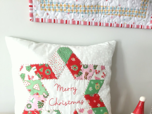 A Star For Christmas Cushion {FREE Project}