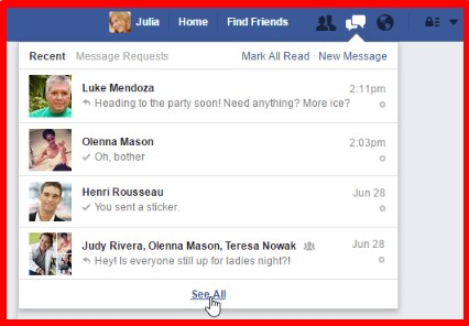 how to delete all inbox conversations on facebook