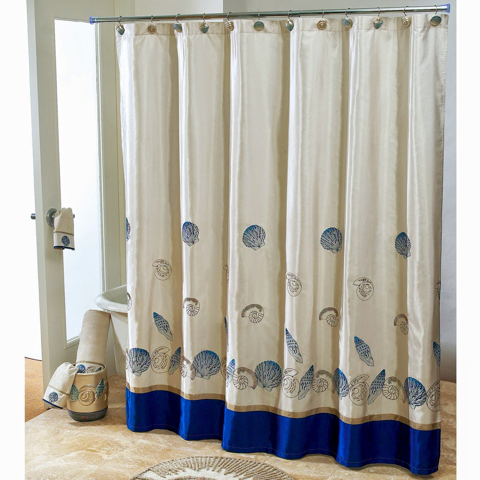 Nautical Bathroom Window Curtain