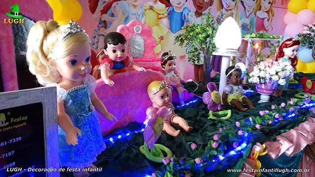Decoração com tema infantil Princesas Baby Disney - Festa de aniversário