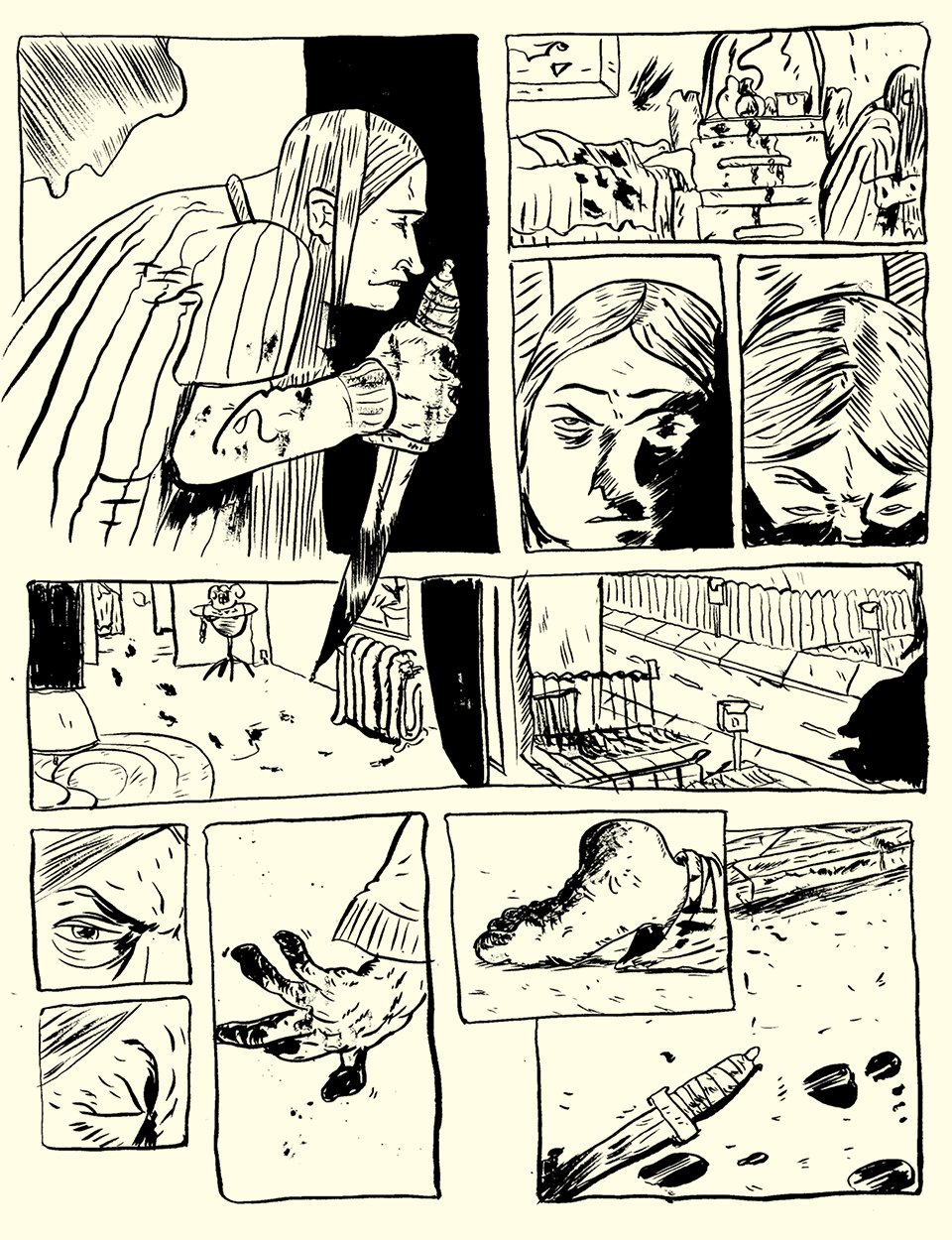 Page 1 by Roho with inks by Jamie Hibdon