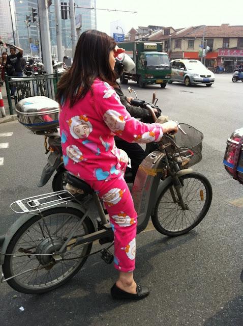 As pessoas andam de pijama em público