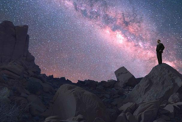 Parte da Via Láctea vista da Terra em determinados pontos.