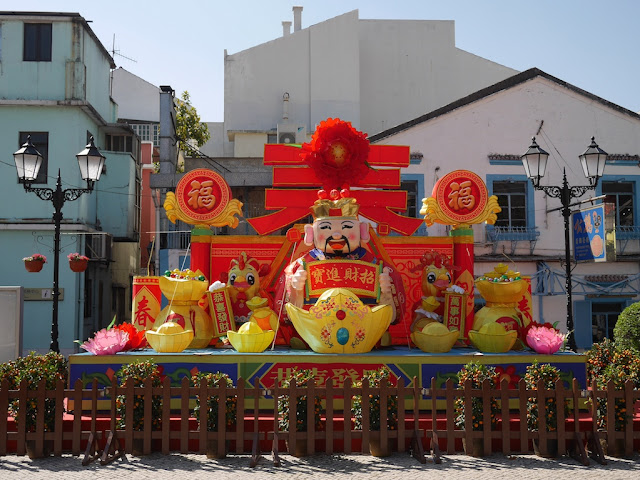 Lunar New Year display at Taipa Village, Macau