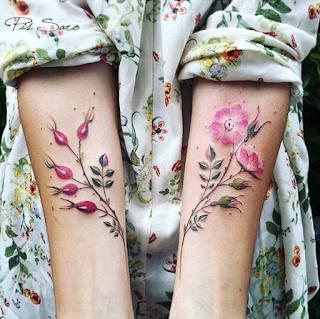 gambar tato bunga cantik